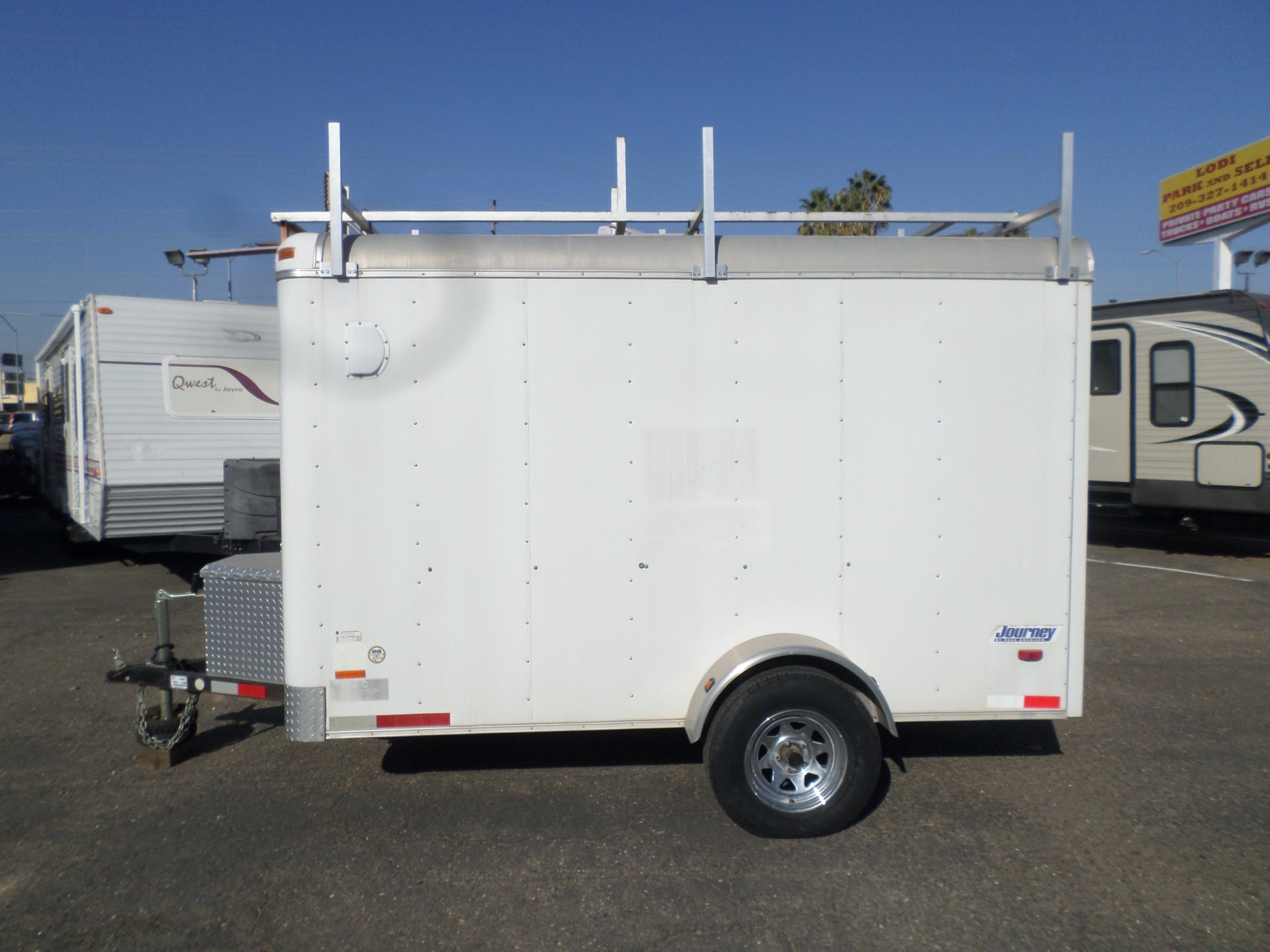 2005 Pace American Journey 6x10 Rear Ramp Enclosed Cargo Trailer
