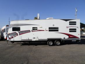 2008 Forest River Sandstorm Toy Hauler Travel Trailer  27'